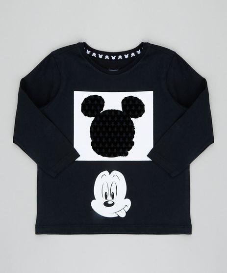Camiseta-Infantil-Mickey-Manga-Longa-Gola-Careca-Preta-9427331-Preto_1