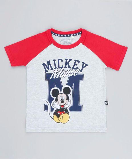 Camiseta-Infantil-Raglan-Mickey-com-Recorte-Manga-Curta-Gola-Careca-Cinza-Mescla-Claro-9427328-Cinza_Mescla_Claro_1