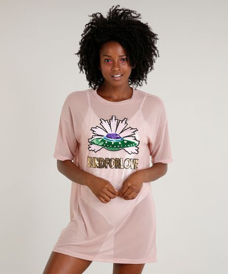 T-shirt-Longa-Feminina-Mindset-em-Tule-com-Paetes--Blind-For-Love--Rose-9479932-Rose_1