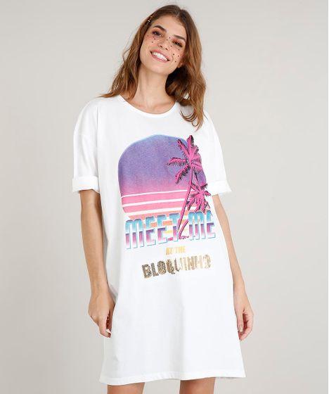 468cd88930 Vestido T-shirt Feminino com Paetês