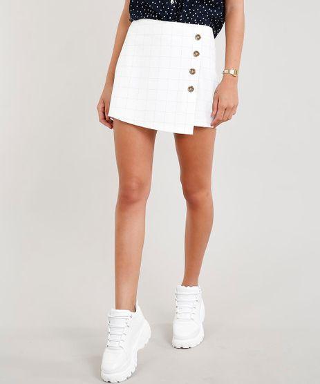 Short-Saia-Feminino-Quadriculado-com-Botoes-Off-White-9367218-Off_White_1