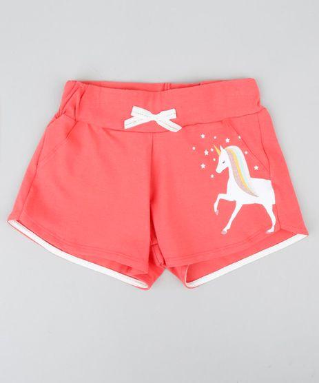 Short-Infantil-Unicornio-com-Laco-Coral-9405575-Coral_1
