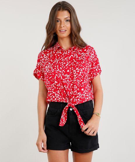 Camisa-Feminina-Cropped-Estampada-de-Coracoes-com-No-Manga-Curta-Vermelha-9369572-Vermelho_1