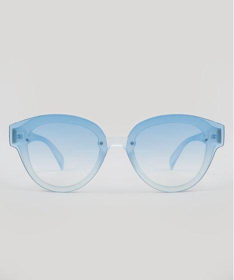 09b053b4c Óculos de Sol Mindset Redondo Feminino Azul Claro - cea