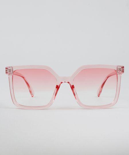Óculos de Sol Mindset Quadrado Feminino Rosa - cea 3125e6cc41