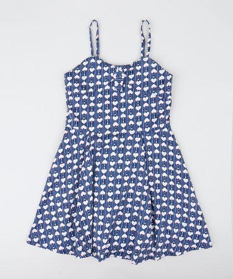 Vestido de festa azul marinho com renda infantil