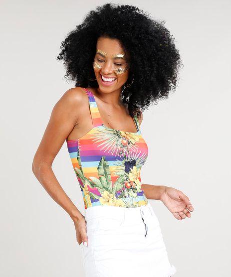 Body-Feminino-Carnaval-Arco-Iris-com-Flores-e-Frutas-Multicor-9421000-Multicor_1