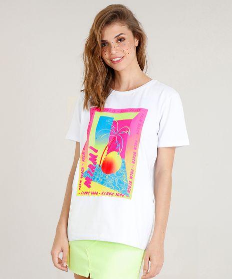 T-shirt-Oversized-Feminina-Mindset--Miami--Neon-Manga-Curta-Branca-9510061-Branco_1