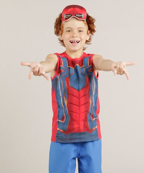 Regata-Infantil-Homem-Aranha---Mascara-Gola-Careca-Vermelha-9237257-Vermelho_1