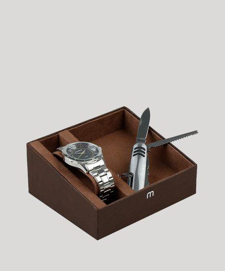 Kit-de-Relogio-Analogico-Mondaine-Masculino---Canivete---99056G0MVNE2KB-Prateado-9399159-Prateado_1