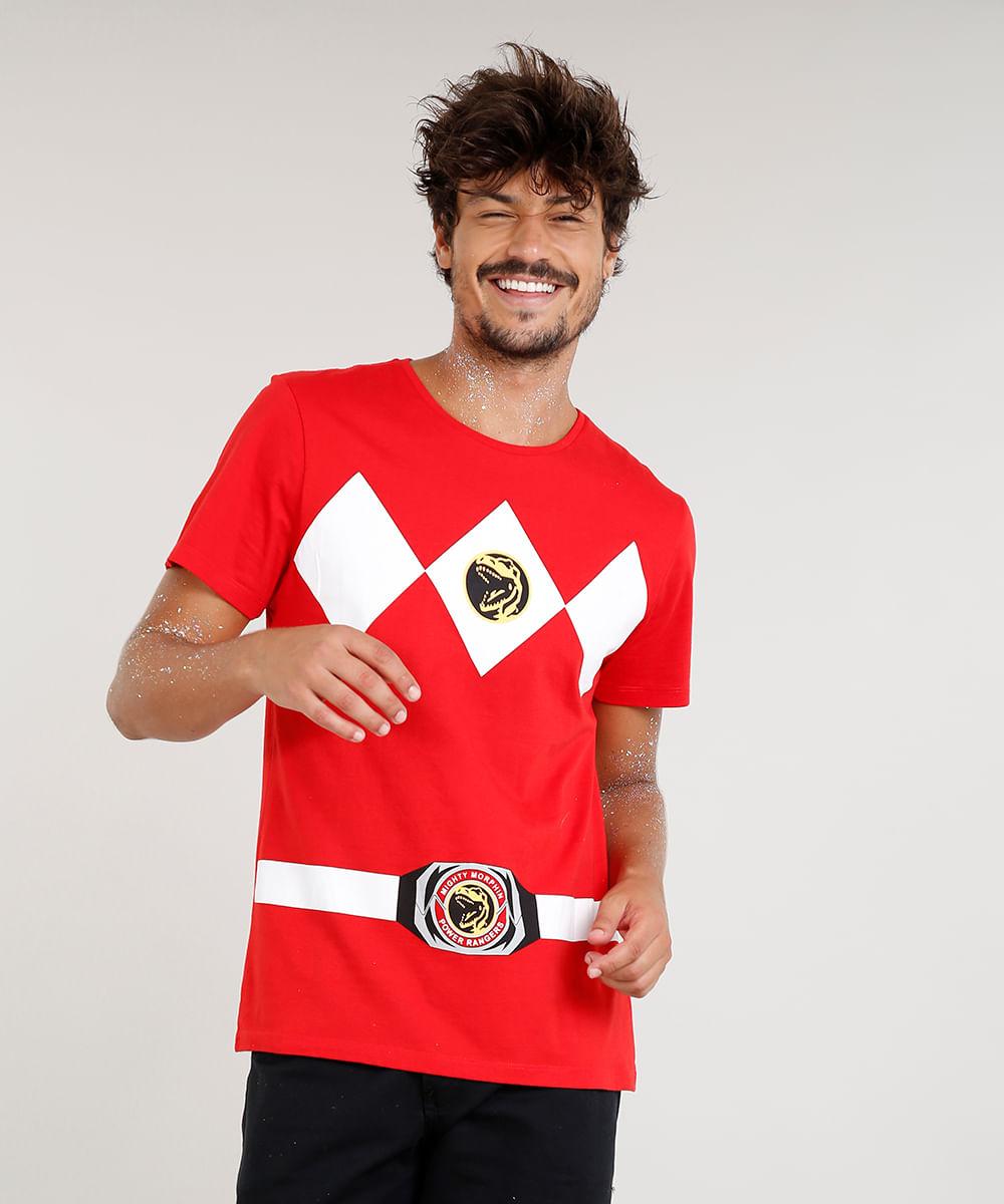 ... Camiseta-Masculina-Carnaval-Power-Ranger-Vermelha-8525460-Vermelho 1 652c1e4f3e49d