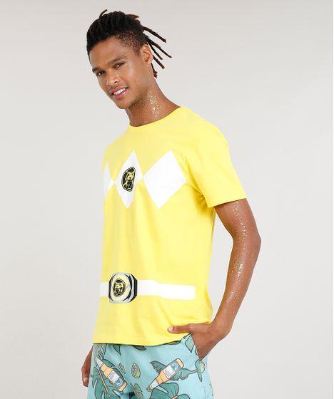 Camiseta-Masculina-Carnaval-Power-Ranger-Amarela-8525423-Amarelo 1 ... 7c054a5fad303