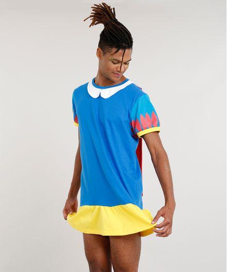 1c1353261e Camiseta Masculina Vestido Branca de Neve com Capa Azul - cea