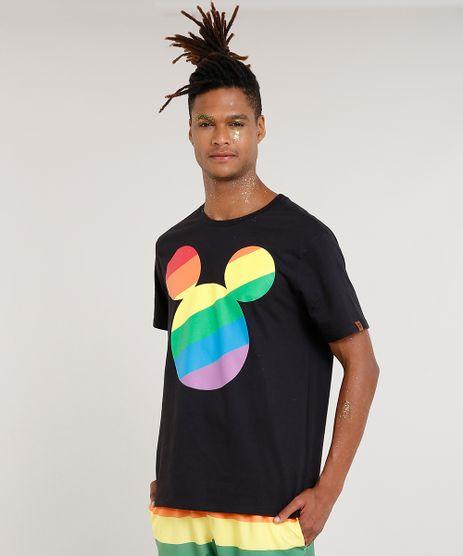 Camiseta-Masculina-Carnaval-Mickey-Manga-Curta-Gola-Careca-Preta-9436320-Preto_1