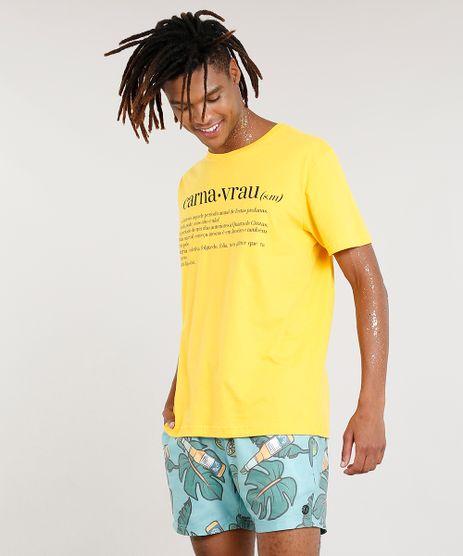 Camiseta-Masculina-Carnaval--Carnavrau--Manga-Curta-Gola-Careca-Amarela-9413968-Amarelo_1