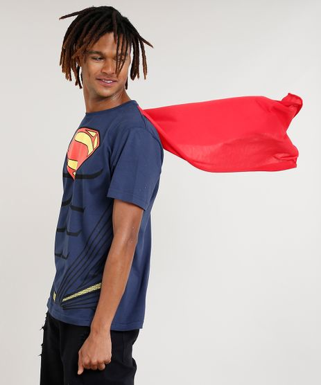 Camiseta-Masculina-Carnaval-Super-Homem-com-Capa-Manga-Curta-Gola-Careca-Azul-Marinho-9411358-Azul_Marinho_1