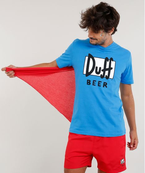 d8df7621b Camiseta Masculina Carnaval Duff Os Simpsons com Capa Manga Curta ...