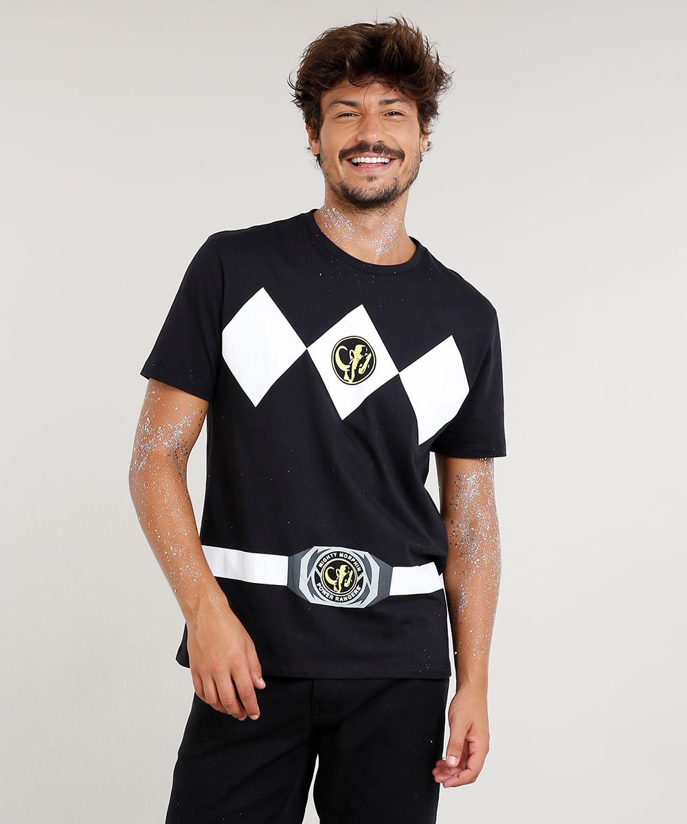 c673c7d55 ... Camiseta-Masculina-Carnaval-Power-Ranger-Preta-8525474-Preto 1