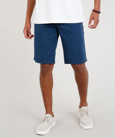 Bermuda-de-Sarja-Masculina-Slim-com-Bolsos-Azul-Marinho-8804139-Azul_Marinho_1