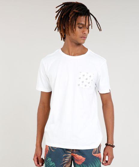 Camiseta-Masculina-com-Bolso-Estampado-de-Coqueiros-Manga-Curta-Gola-Careca-Branca-9396809-Branco_1