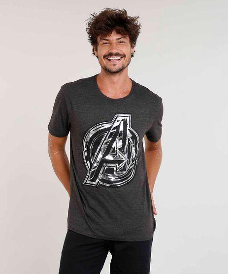 67f6dadd9c143 Camiseta-Masculina-Os-Vingadores-Metalizada-Manga-Curta-Gola-