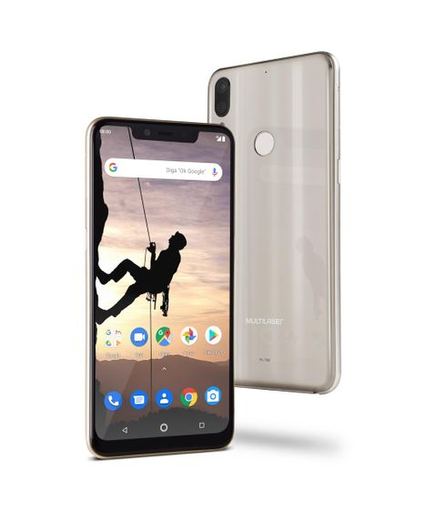 d450754be Smartphone Multilaser MS80X 4G Android 8.1 Qualcomm 4GB RAM e 64GB Tela  6