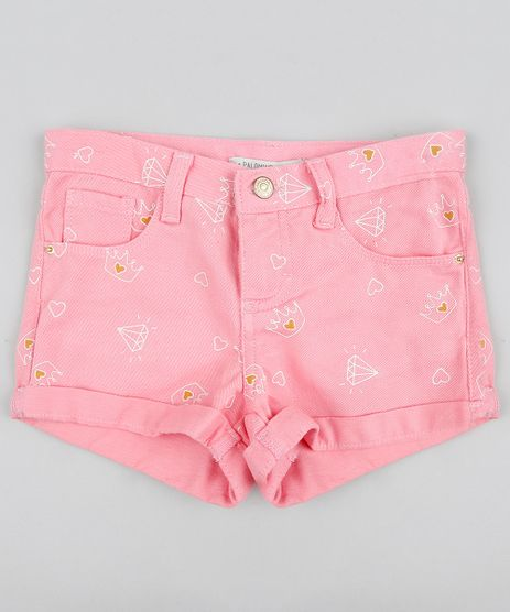 Short-Color-Infantil-Estampado-de-Coroa-Rosa-9418455-Rosa_1