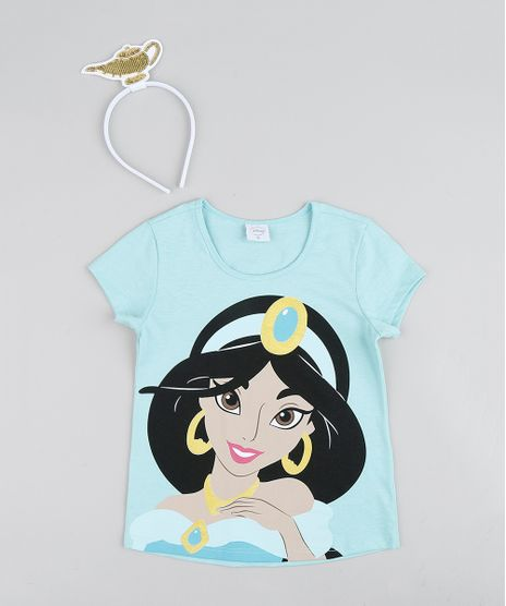 Blusa-Infantil-Carnaval-Jasmine-Manga-Curta---Tiara-Verde-Claro-9433380-Verde_Claro_1