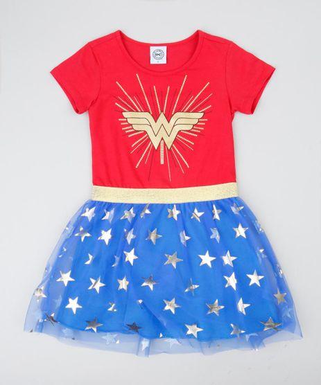 Vestido-Infantil-Carnaval-Mulher-Maravilha-com-Tule-Estampado-de-Estrelas-Vermelho-9439089-Vermelho_1
