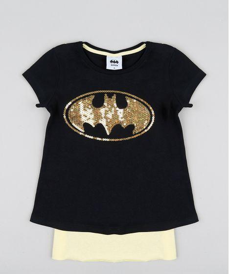 b23321c6d Blusa Infantil Carnaval Batgirl com Capa Manga Curta Decote Redondo ...
