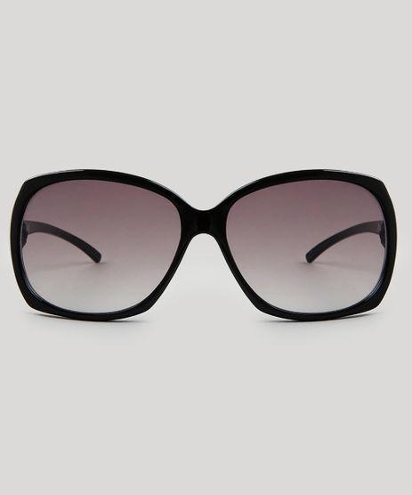 915f3b3ec537e Óculos de Sol Quadrado Feminino Oneself Preto - cea
