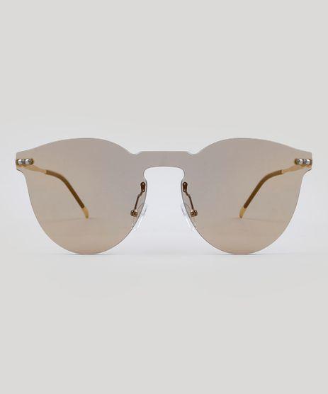 Oculos-de-Sol-Redondo-Feminino-Oneself-Dourado-9485645- 0df657df07