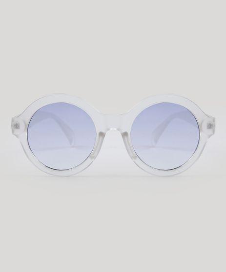 62df18fad2c7f Oculos-de-Sol-Redondo-Feminino-Oneself-Transparente-9485639-