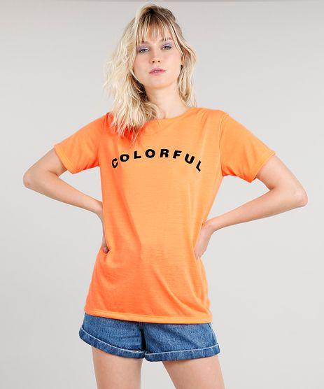 T-shirt-Feminina-Mindset--Colorful--Manga-Curta-Laranja-Neon-9510063-Laranja_Neon_1