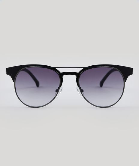 Oculos-de-Sol-Redondo-Unissex-Oneself-Preto-9485633- 8cd05baf1e