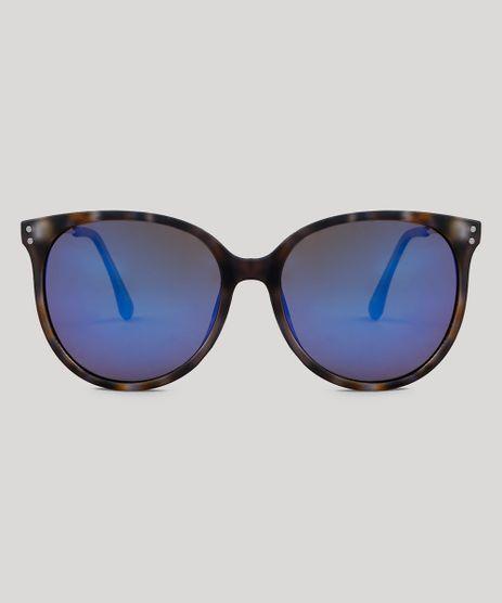 56bebba8827ec Oculos-de-Sol-Redondo-Feminino-Oneself-Tartaruga-9485630-