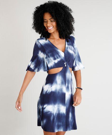 Vestido-Feminino-Curto-com-Recortes-Estampado-Tie-Dye-Manga-Curta-Azul-Marinho-9431866-Azul_Marinho_1