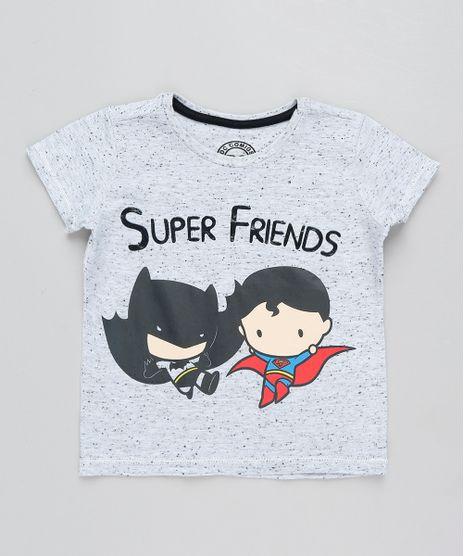 Camiseta-Infantil-Batman-e-Super-Homem-Manga-Curta-Gola-Careca-Cinza-Mescla-Claro-9433554-Cinza_Mescla_Claro_1