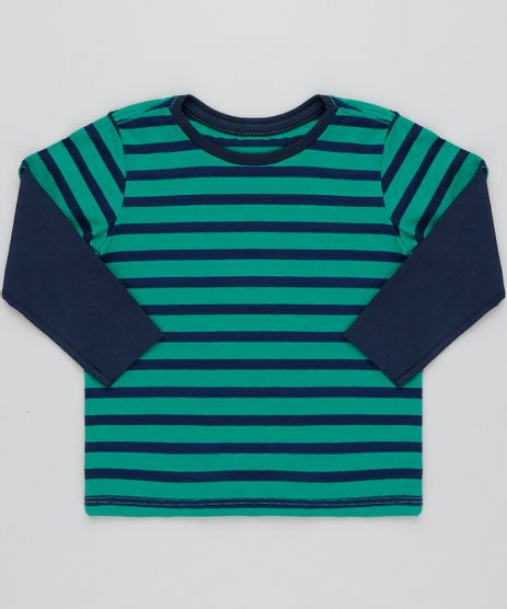 Camiseta-Infantil-Listrada-Basica-Manga-Longa-Verde-9445003-Verde_1