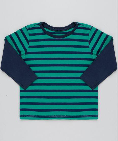 Camiseta-Infantil-Listrada-Basica-Manga-Longa-Verde-9445003- 48cdda99e98d3