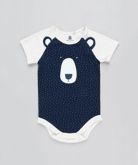 Body-Infantil-Urso-com-Orelhas-Manga-Curta-Decote-Redondo-Bege-Claro-9205080-Bege_Claro_1