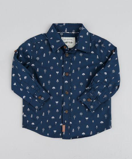 Camisa-Infantil-Estampada-Mini-Print-Arvores-Manga-Longa-Azul-Marinho-9364601-Azul_Marinho_1