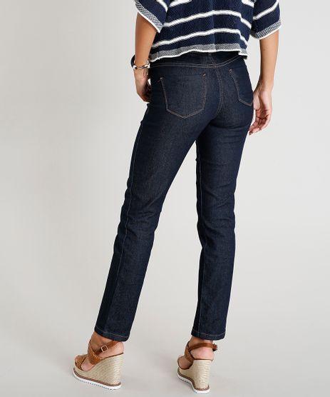 dc16ec7cc Calca-Jeans-Feminina-Reta-Cintura-Media-Azul-Escuro-