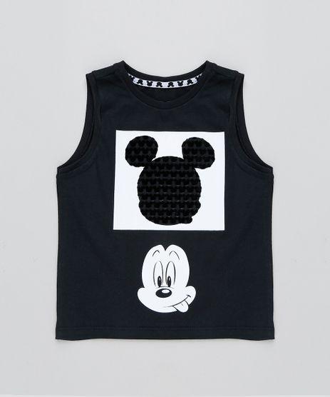 Regata-Infantil-Mickey-Mouse-Gola-Careca-Preta-9435940-Preto_1