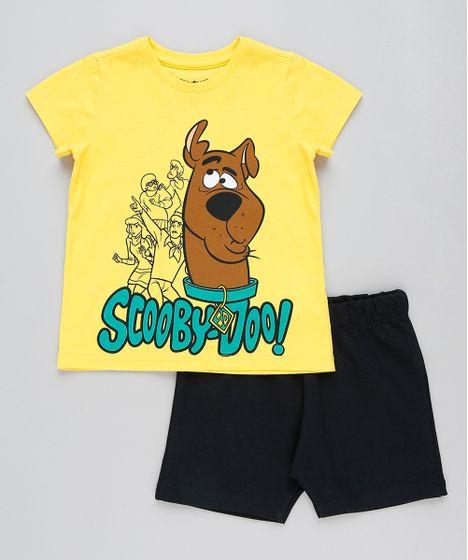 815b1feba6 Conjunto Infantil Scooby Doo de Camiseta Manga Curta Amarela + ...