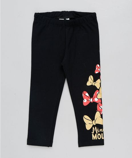 Calca-Legging-Infantil-Minnie-Mouse-com-Glitter-e-Lacos-Preta-9440324-Preto_1