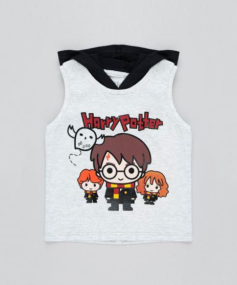 Regata-Infantil-Harry-Potter-com-Capuz-Cinza-Mescla-Claro-9463341-Cinza_Mescla_Claro_1