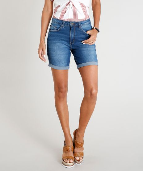 Bermuda-Jeans-Feminina-com-Barra-Dobrada-Azul-Escuro-9458587-Azul_Escuro_1