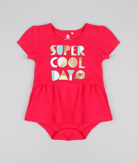 Body-Saia-Infantil--Super-Cool-Day--Manga-Curta-Decote-Redondo-Rosa-Escuro-9205038-Rosa_Escuro_1