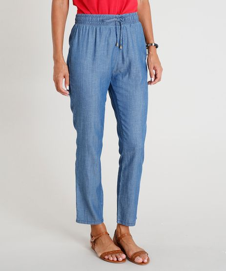 Calca-Jeans-Feminina-Jogger-com-Cordao-Azul-Medio-9469843-Azul_Medio_1